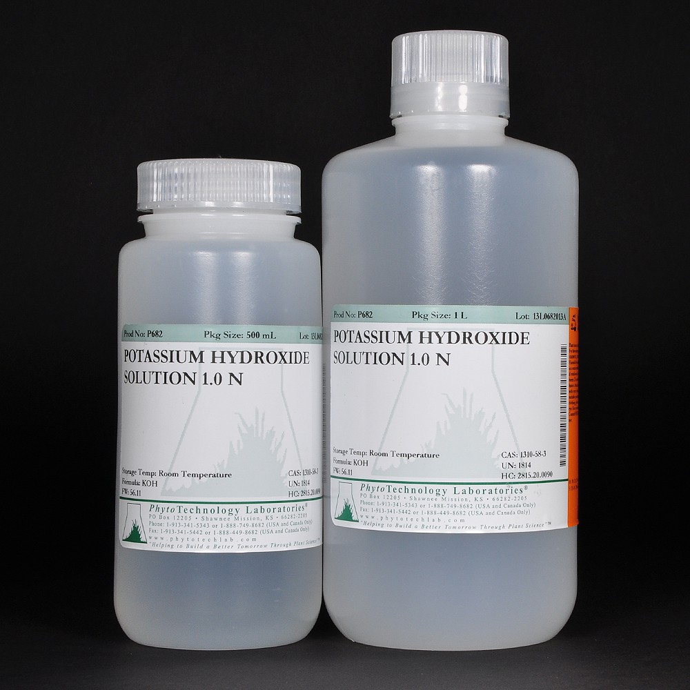 standardizing a solution of potassium hydroxide Experiment 23b: standardizing a naoh solution the purpose of this part of the lab is to make and then standardize 500 ml of a sodium hydroxide solution to be used in the other part of experiment 22.